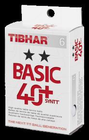 Мячи пластиковые TIBHAR BASIC ★★ 40+ 6 шт