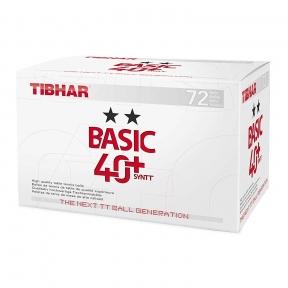 М'ячі пластикові TIBHAR BASIC ★★ 40+ 72 шт